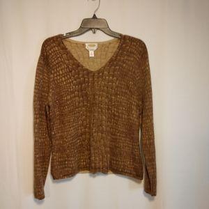 Talbot's giraffe print cashmere sweater